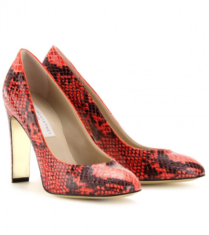 Stella McCartney JOPLIN SNAKE PRINT PUMPS