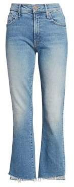 Mother Insider High-Rise Crop Step Fray Jeans