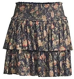 Rebecca Taylor Women's Secret Garden Tiered Floral Skirt