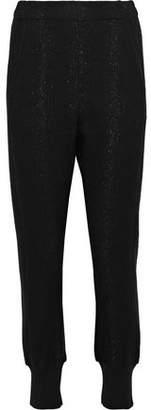 Ann Demeulemeester Chamberlin Metallic Wool-Blend Fleece Track Pants