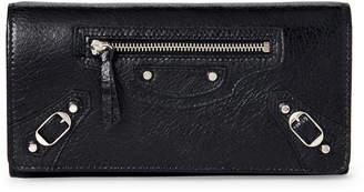 Balenciaga Black Classic Money Continental Wallet