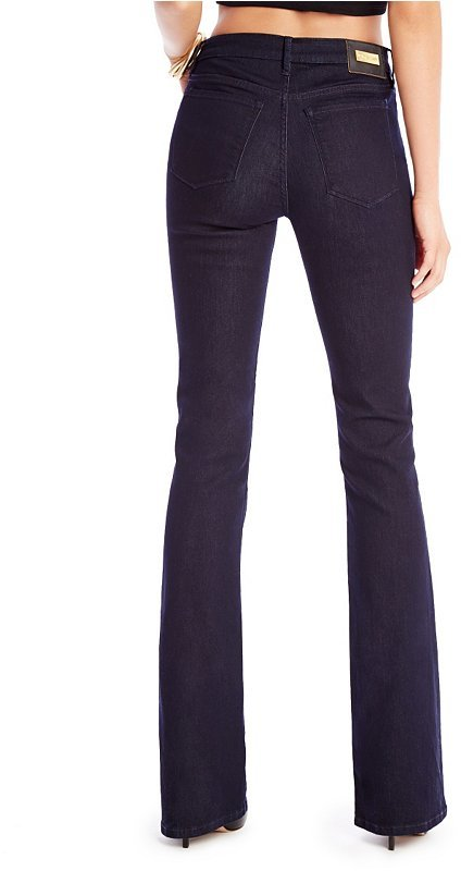 GUESS by Marciano High-Rise Flare No. 78 Jean with Resin Rinse