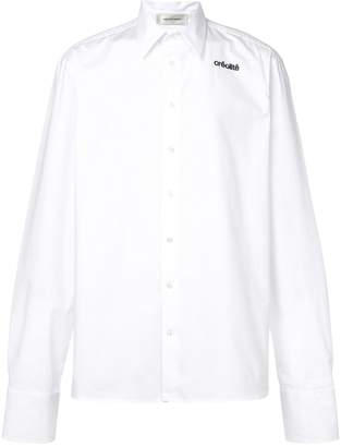 Wales Bonner creolite embroidered shirt white