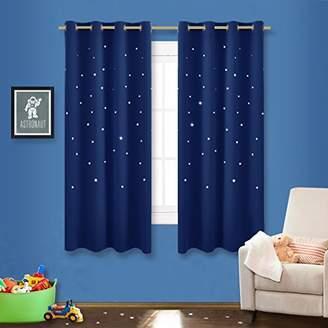 Star Kids NICETOWN Romantic Starry Sky Curtains - Space Inspired Night Sky Twinkle Star Kid's Room Draperies