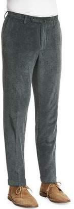 Incotex Wide-Wale Corduroy Pants, Moss Green