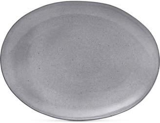 Mikasa Rowan Grey Oval Platter