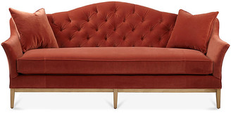One Kings Lane Ashby Sofa - Rust Velvet