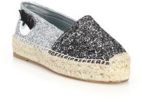 Chiara Ferragni Wink Glitter Espadrille Flats $310 thestylecure.com