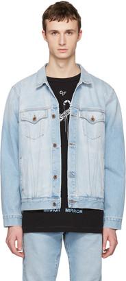 Off-White Blue Denim Scorpion Jacket $775 thestylecure.com