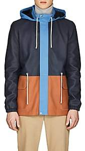 Loewe Men's Light Leather Hiking Jacket-Blue
