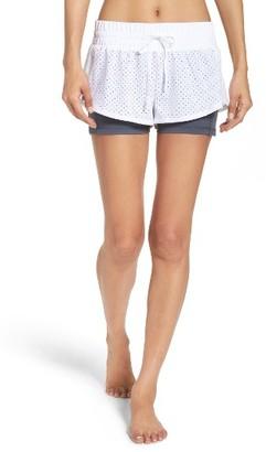 Women's Zella Zippy Double Layer Performance Shorts $55 thestylecure.com