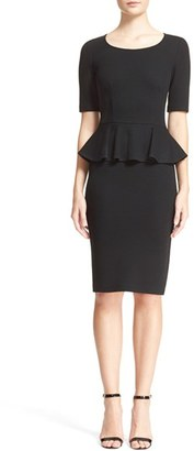 Women's St. John Collection Peplum Milano Pique Knit Dress $995 thestylecure.com