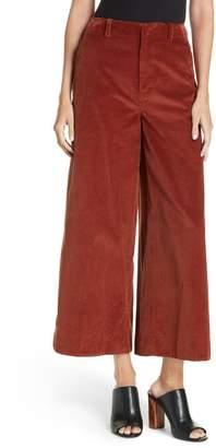 Elizabeth and James Oakley Crop Wide Leg Corduroy Trousers