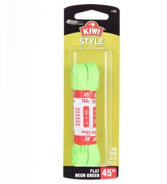 "Kiwi Flat Laces Neon Green 45"" 2 pairs"