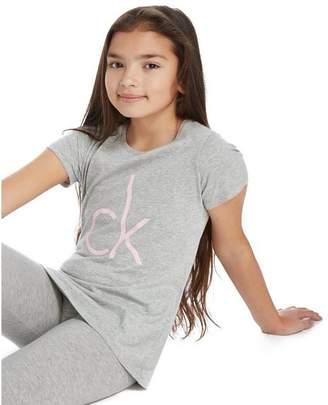 Calvin Klein Girls' 2 Pack Modern Cotton T-Shirts Junior