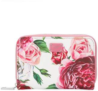 Dolce & Gabbana peony print small wallet