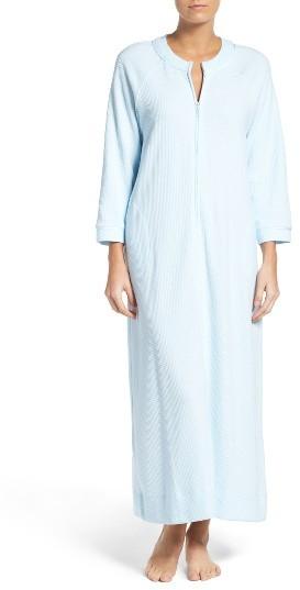 Carole HochmanWomen's Carole Hochman Designs Waffle Knit Zip Robe
