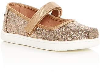 Toms Girls' Glimmer Glitter Mary Jane Flats - Baby, Walker, Toddler