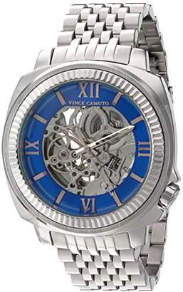 Vince Camuto Men's VC/1069BLSV Silver-Tone Exposed Automatic Bracelet Watch