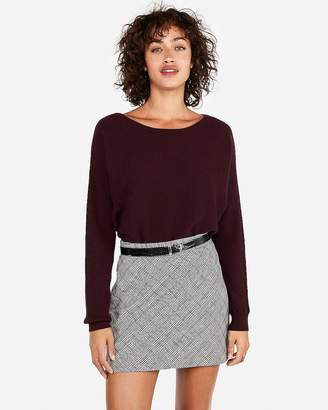 Express Horizontal Ribbed Dolman Sleeve Sweater