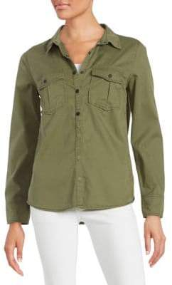 Sanctuary Emboidered Utility Button-Down Shirt