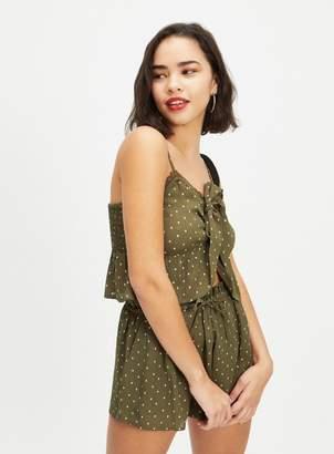 Miss Selfridge PETITE Khaki Geo-Printed Shorts