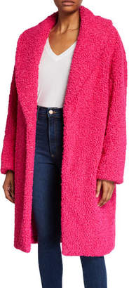 Alice + Olivia Ora Faux-Fur Shawl-Collar Oversized Coat