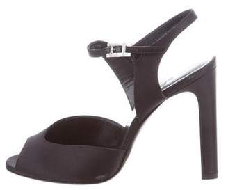 Hermes Satin Ankle Strap Sandals