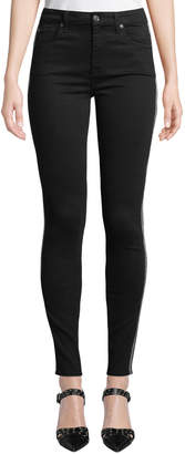 7 For All Mankind The Ankle Skinny Jeans with Caviar Beading