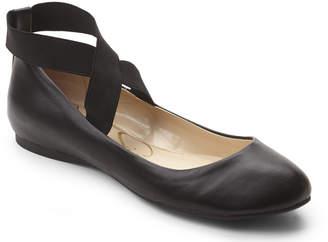 Jessica Simpson Black Mandayss Elastic Strap Flats