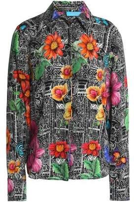 Matthew Williamson Woman Floral-print Silk Dress Black Size 6 Matthew Williamson Cheap Sale Hot Sale Store With Big Discount Clearance Choice 2dhP7G5