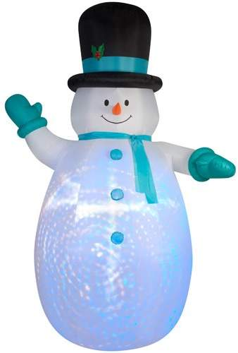 The Holiday Aisle Airblown Projection Giant Snowman with Swirls Inflatable