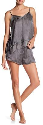 Josie Natori Hammam Burnout Silk Combo 2-Piece Pajama Set