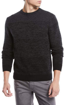 Neiman Marcus Men's Ombre Wool-Cashmere Sweater