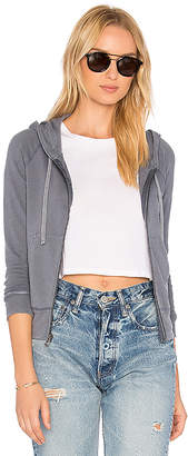 James Perse Classic Zip Up Hoodie in Blue $175 thestylecure.com