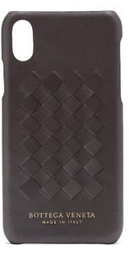 Bottega Veneta Intrecciato Leather Iphone X Case - Womens - Silver