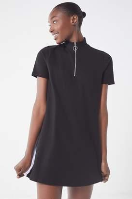 Urban Outfitters Colorblock Zipper Mock-Neck Dress