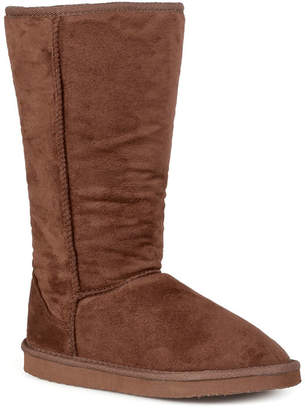 Journee Collection 510 Faux-Suede Mid-Calf Low Heel Boots