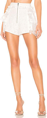 For Love & Lemons Las Palmas Lace Shorts