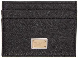 Dolce & Gabbana Black and Gold Logo Card Holder
