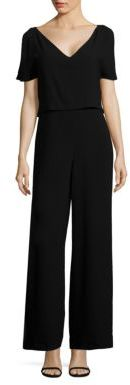 Polo Ralph Lauren Crepe V-Neck Jumpsuit $298 thestylecure.com