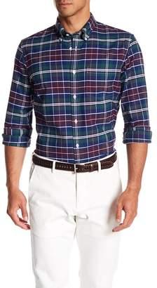 Brooks Brothers Oxford Yarn Dye Plaid Print Shirt