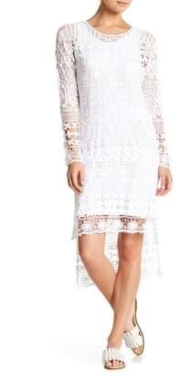 XCVI Fonda Crochet Lace Hi-Lo Dress