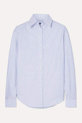 Emma Willis Striped Cotton Oxford Shirt - Navy