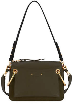 Chloé Roy Small Leather/Suede Satchel Bag