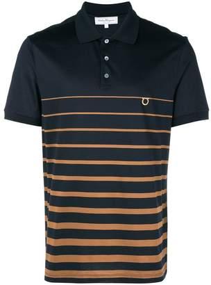 Salvatore Ferragamo striped logo polo shirt