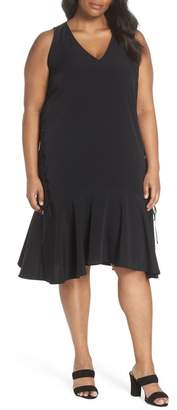 Sejour Lace-Up Drop Waist Dress (Plus Size)