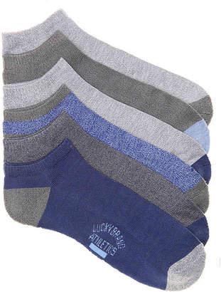 Lucky Brand Half Cushion No Show Socks - 6 Pack - Men's