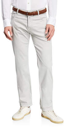 Kiton Men's Cotton/Silk Stretch Straight-Leg Pants