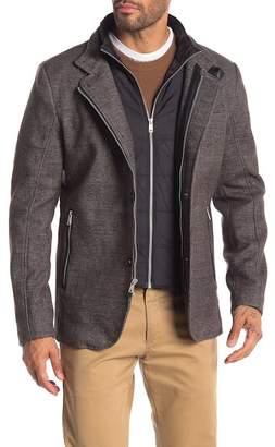 Kenneth Cole New York Textured Double Zip Blazer